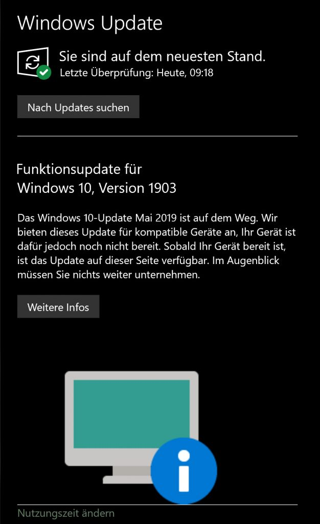 kein Funktions-Update