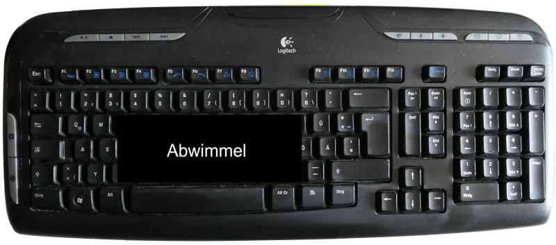 Alternative Kundendienst-Tastatur